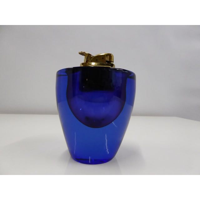 1960s Vintage Flavio Poli for Seguso Style Mid Century Modern Murano Italy Sommerso Vessel Ashtray For Sale - Image 9 of 13