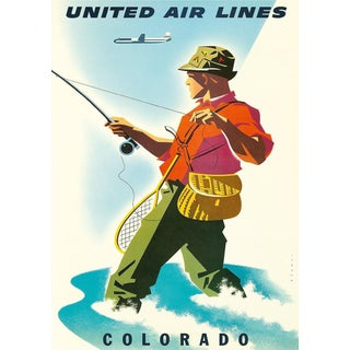 Colorado Travel Poster Matted & Framed