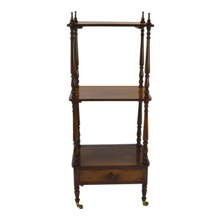 19th Century English Rosewood Etagere For Sale