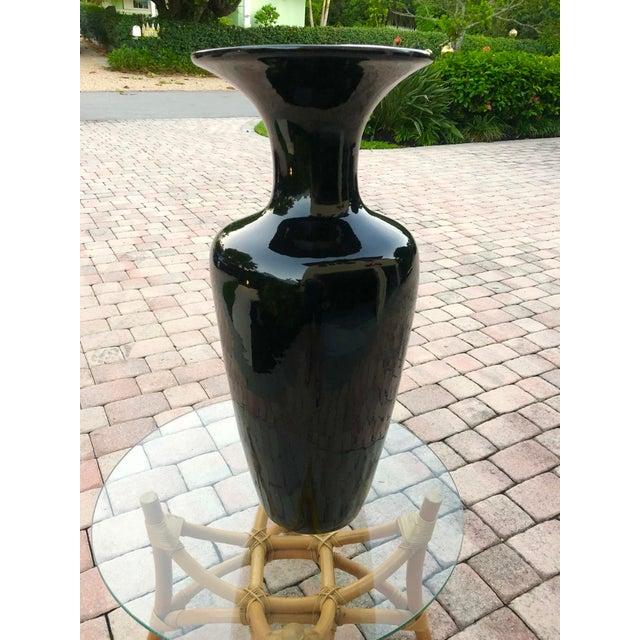 1980s Vintage Black Ceramic Vase For Sale In Miami - Image 6 of 6