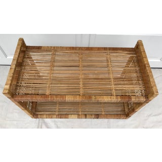 1960s Boho Chic Rattan Rolling Cart Preview