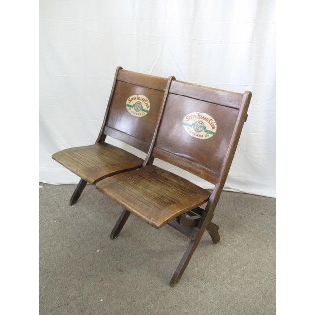 Pre War Seven Island Club Cigars Folding Double Bench For Sale - Image 9 of 9
