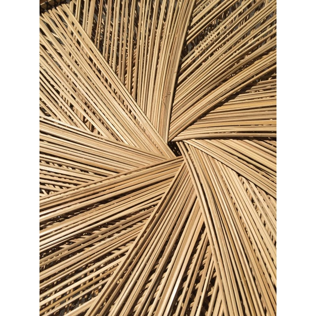 70s Boho Rattan Hourglass Dining Table For Sale In San Francisco - Image 6 of 8