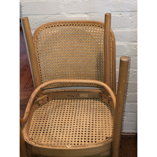 Camel Josef Hoffmann Thonet Prague Side Chairs- a Set of Four For Sale - Image 8 of 11