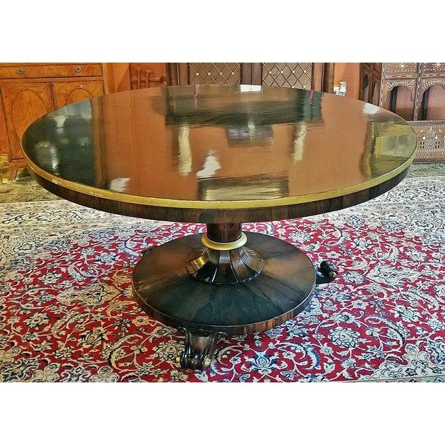 Wood British Regency Tilt Top Center Table For Sale - Image 7 of 9