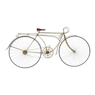 1980s Vintage C. Jere Ten Speed Racing Bicycle Metal Wall Sculpture For Sale