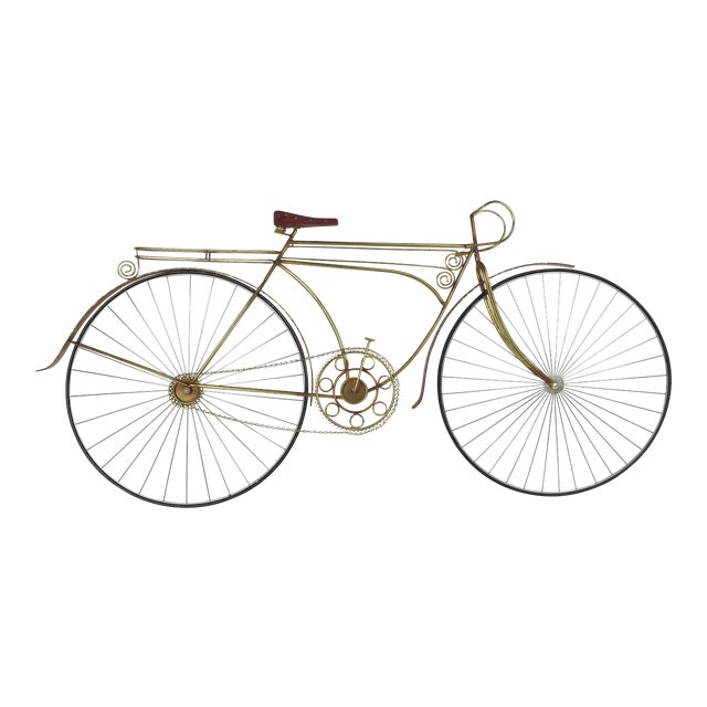 1980s Vintage C. Jere Ten Speed Racing Bicycle Metal Wall Sculpture For Sale