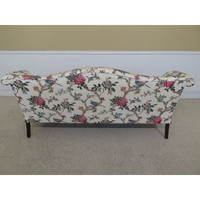 1990s Vintage Hancock & Moore Claw Foot Camelback Sofa For Sale - Image 9 of 13