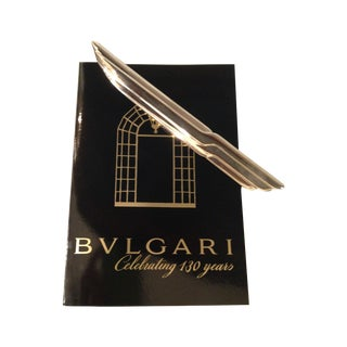 Vintage Bulgari Sterling Silver Letter Opener For Sale