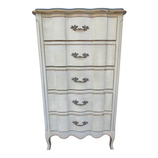 20th Century French Style Five Drawer Lingerie Chest For Sale