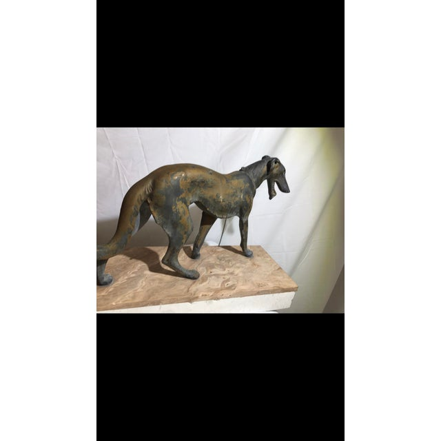 Art Deco Metalware Walking Hounds on Marble Base - Image 11 of 11