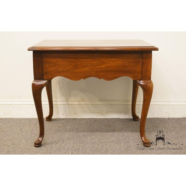Thomasville Furniture Collectors Cherry Collection End Table For Sale - Image 10 of 13