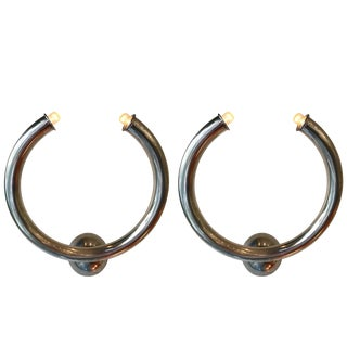 Aluminum Ring Sconces by Reggiani, Italy, 1970s - a Pair For Sale