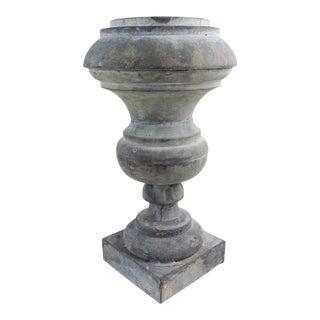 Antique Zinc Architectural Baluster Urn For Sale