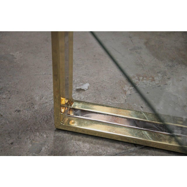 Italian Coffee Table Brass and Steel, 1960s For Sale In Los Angeles - Image 6 of 9