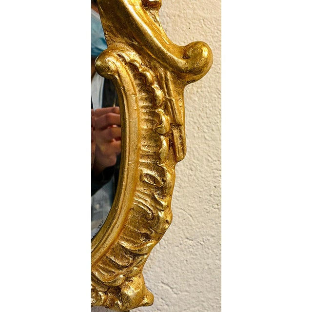 Gold Chippendale Fashioned Console Mirror by Friedman Bros For Sale - Image 8 of 11