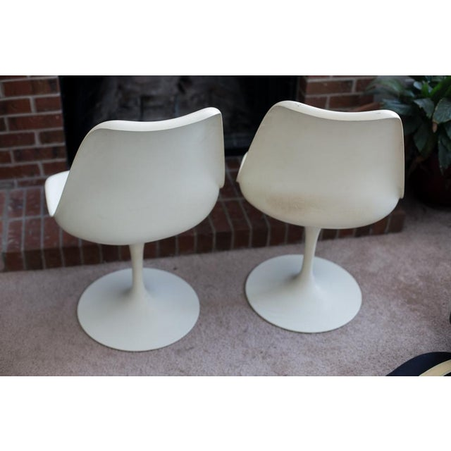 Blue Knoll Associates Saarinen Tulip Chairs - A Pair For Sale - Image 8 of 11