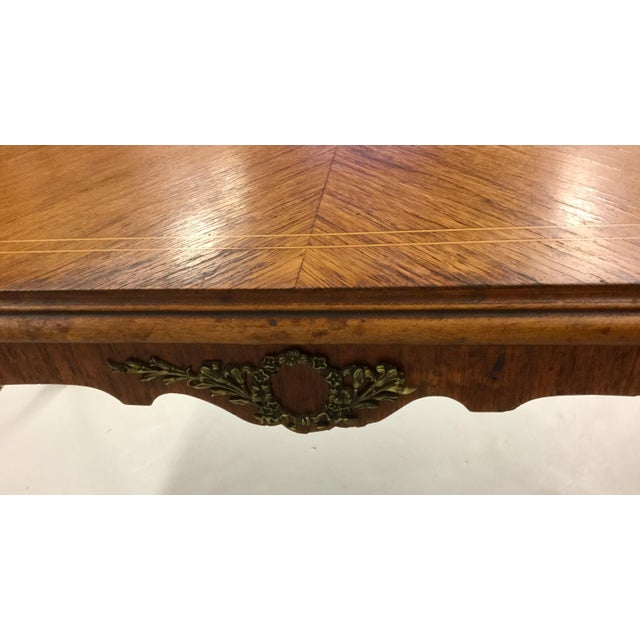 Antique Inlaid Glass Top French Coffee Table For Sale - Image 11 of 13