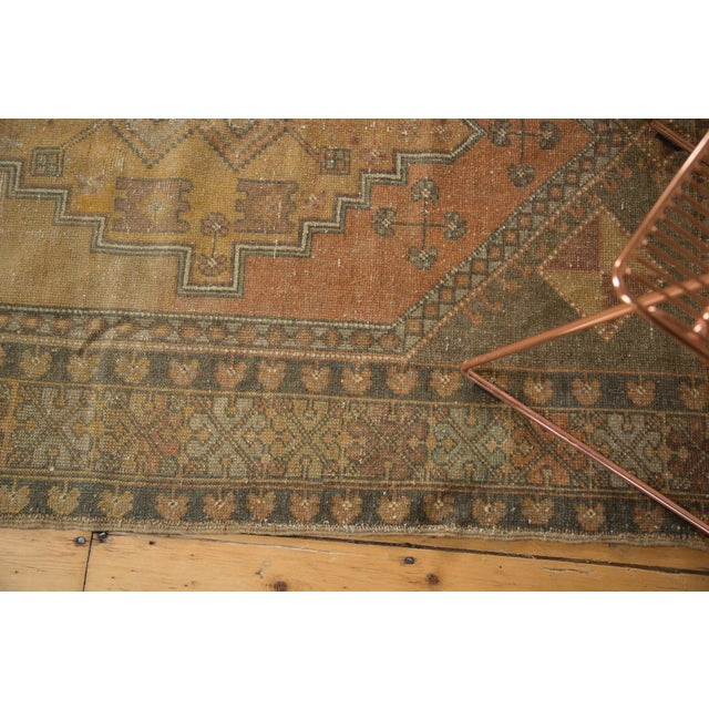 "Vintage Distressed Oushak Rug - 4'1"" x 6'7"" - Image 8 of 11"