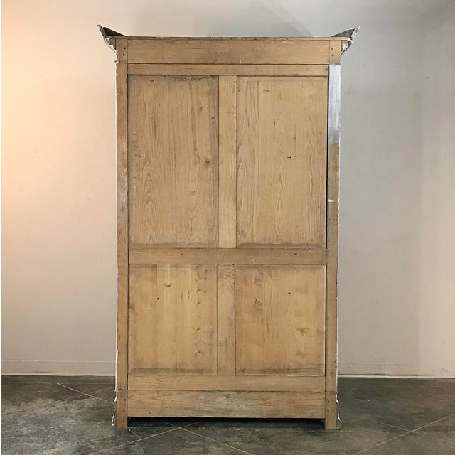 19th Century Swedish Whitewashed Pine Armoire For Sale - Image 11 of 12