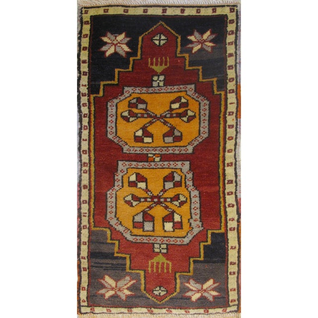 Vintage Turkish Rug - 1′6″ × 2′10″ For Sale
