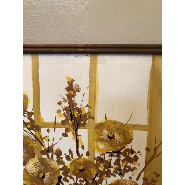 1960s Mid-Century Style Floral Still Life Painting, Framed For Sale In New York - Image 6 of 8