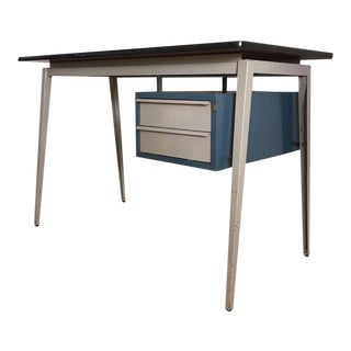 Grey Friso Kramer and Prouvé Style Desk, by Marko, 1950s-1960s