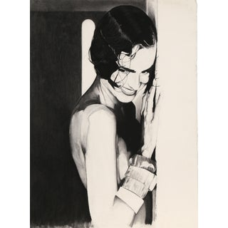 Nathaniel Tatum, Portrait of a Woman Charcoal Drawing For Sale