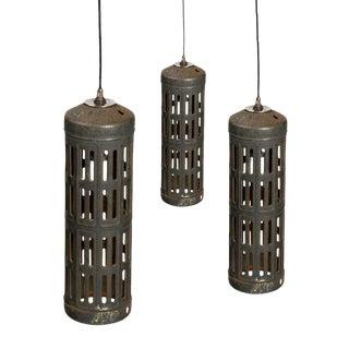 Industrial Cylinder Pendant Light -Set of 3