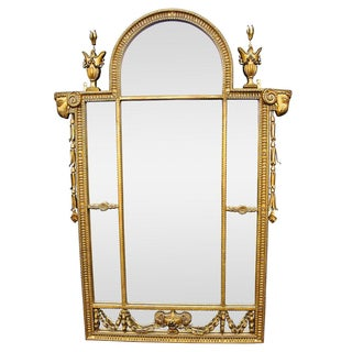 Italian Ram's Head Gilded Mirror For Sale