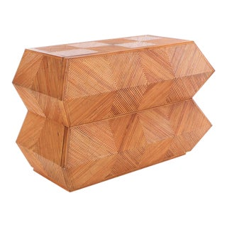 Mid 20th Century Vintage Gabriella Crespi Style Hexagonal Dresser For Sale
