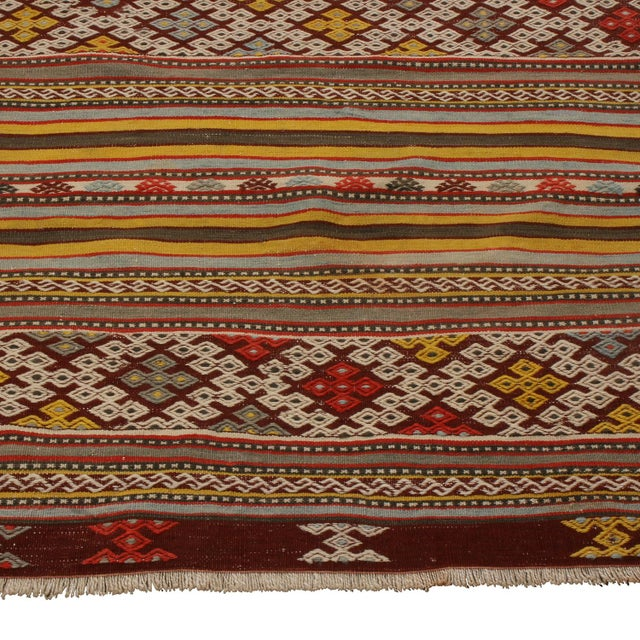 Rug & Kilim Vintage Helvaci Yellow Multicolor Wool Kilim Rug For Sale - Image 4 of 6