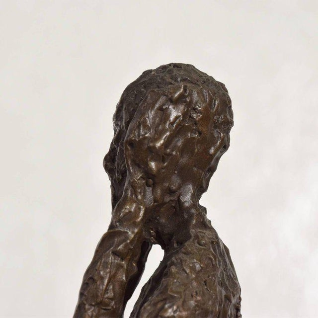 "1960s Bronze Sculpture ""The Scream"" Edvard Munch Midcentury For Sale - Image 5 of 10"