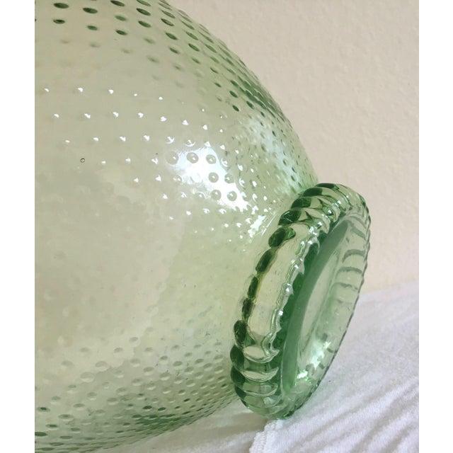 Green Depression Glass Hobnail Serving Bowl - Image 5 of 5