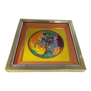 Leroy Neiman Limited Edition Royal Doulton Harlequin 1974 Framed Artwork Plate For Sale