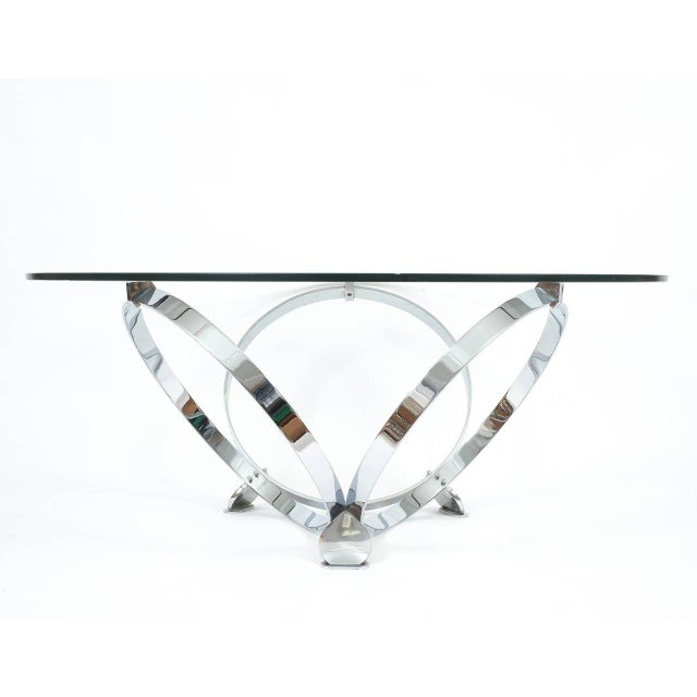 Elegant Chrome Ring Coffee Table by Knut Hesterberg, circa 1970 For Sale - Image 6 of 6
