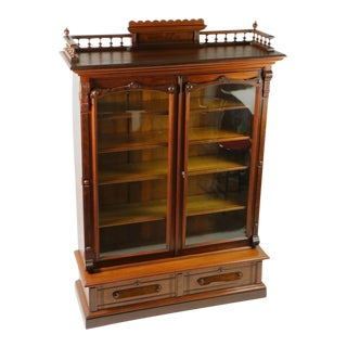 Victorian Renaissance Revival Bookcase For Sale