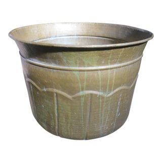 1970s Mid-Century Modern Solid Brass Planter For Sale