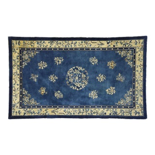 1910s Antique Chinese Peking Rug- 4′1″ × 6′9″ For Sale