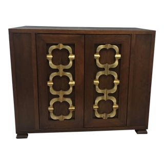 Gilt Wood Detail Hollywood Regency Cabinet