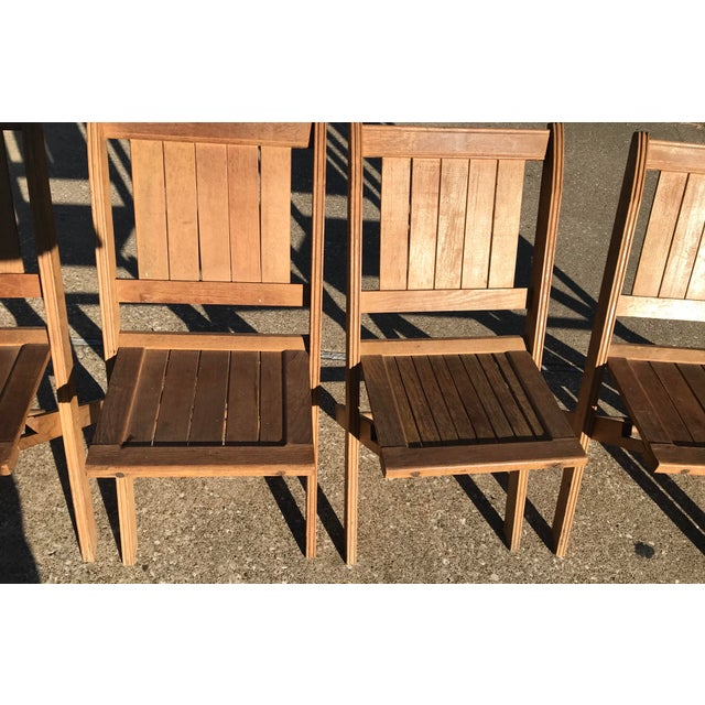 Wood Vintage Wooden Folding Chairs - Set of Six For Sale - Image 7 of 11 - Vintage Wooden Folding Chairs - Set Of Six Chairish