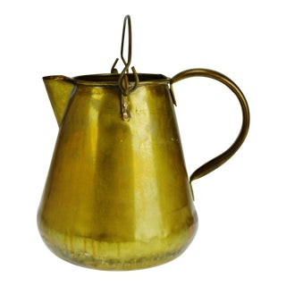 Vintage Brass Pitcher Made in the Republic of Ireland For Sale