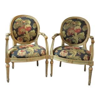 Louis XVI Zabert Arm Chairs - a Pair For Sale