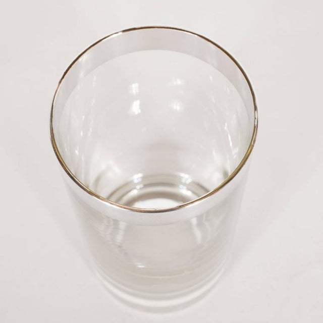 Dorothy Thorpe Set of 4 Mid-Century Sterling Silver Overlaid Highball Glasses by Dorothy Thorpe For Sale - Image 4 of 6