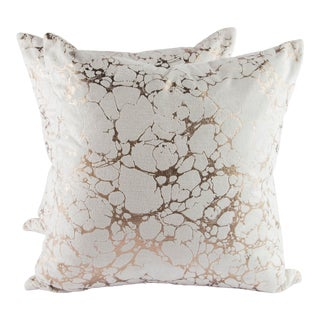 "22"" X 22"" Velvet Romo Black Edition Marmori Pillows For Sale"