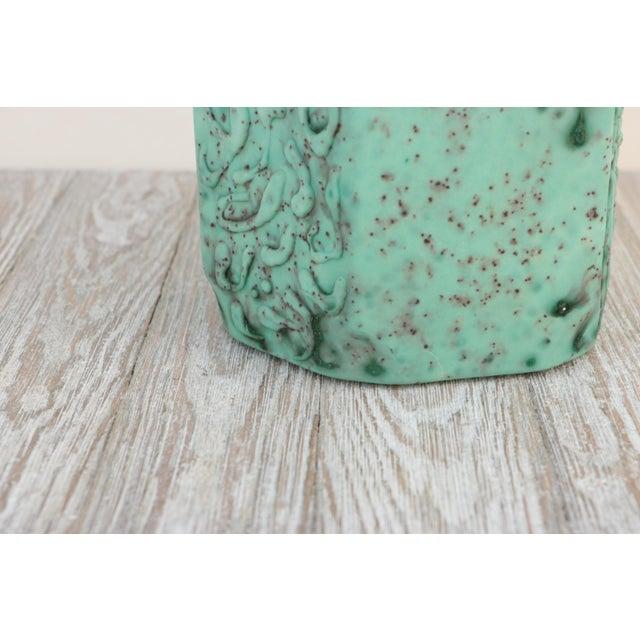Ceramic Sea Green Lava Foam Mid Century Vase For Sale - Image 7 of 11