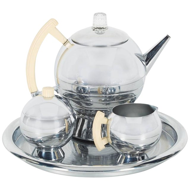 Art Deco Coffee Service Set by Walter Von Nessen for Chase For Sale