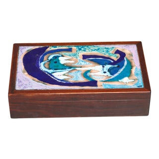 Alfred Klitgaard & Bodil Eje Decorative Box, Denmark, 1960s For Sale