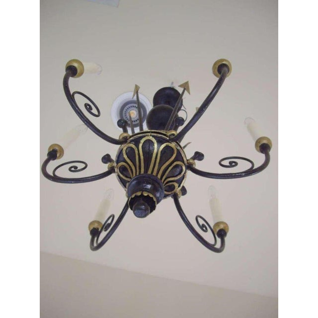 Empire French Empire Style Six Light Chandelier For Sale - Image 3 of 7