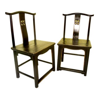 Antique Chinese High Back Chairs - a Pair For Sale